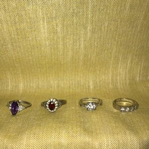 Various silver ring lot
